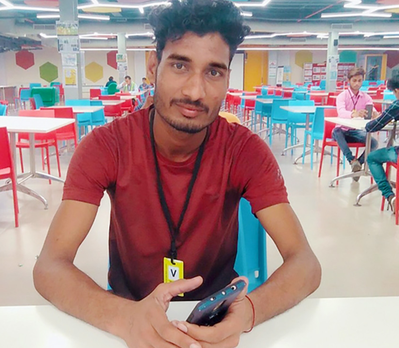 Ankit is one of the ex-graduates from St.Anthony's ITI who lost his job due to the lockdown.